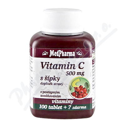 Zobrazit detail - MedPharma Vitamín C 500mg s šípky tbl. 107 prod. úč.