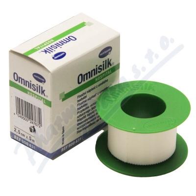 N�plast Omnisilk b�l� hedv�b� 2.5cmx5m 1ks