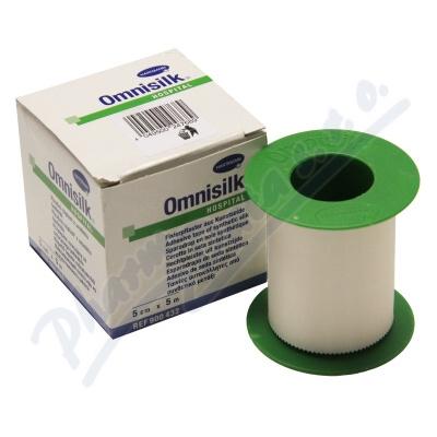 Náplast Omnisilk bílé hedvábí 5cmx5m 1ks