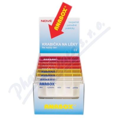 Zobrazit detail - Dávkovač na léky ANABOX Denní box barevně rozliš.