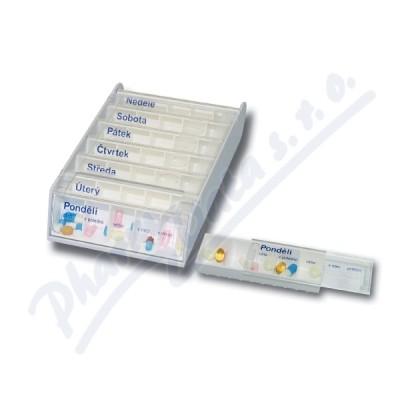 Zobrazit detail - Dávkovač na léky ANABOX 7 dní bílý