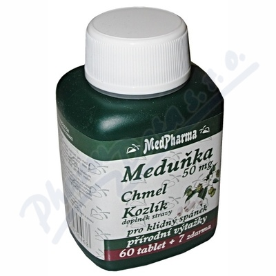 Zobrazit detail - MedPharma Meduňka+chmel+kozlík cps. 67
