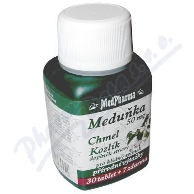 Zobrazit detail - MedPharma Meduňka+chmel+kozlík cps. 37