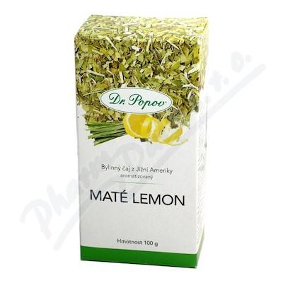 Zobrazit detail - �aj Mat� zelen� Lemon 100g ochucen� byl. Dr. Popov
