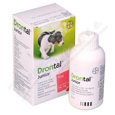 Zobrazit detail - Drontal JUNIOR pro psy a. u. v. sus. 50ml+apl.