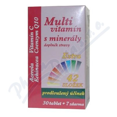 Zobrazit detail - MedPharma Multivitamín s minerály+extra C tbl. 37