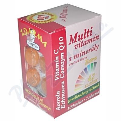 Zobrazit detail - MedPharma Multivitamín s minerály+extra C tbl. 107