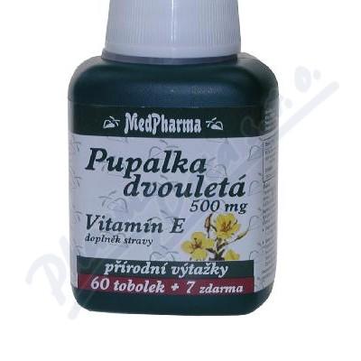 Zobrazit detail - MedPharma Pupalka dvouletá 500mg+vit. E tob. 67