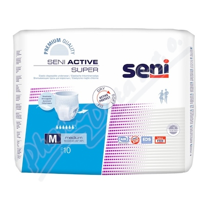 Zobrazit detail - Seni Active Super Medium 10ks inkont. plenk. kalh.