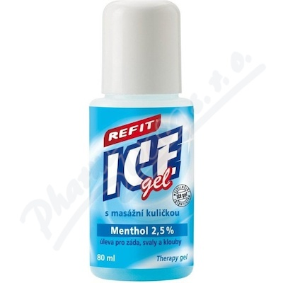 Zobrazit detail - Refit Ice gel roll-on Menthol 2. 5% na záda 80ml