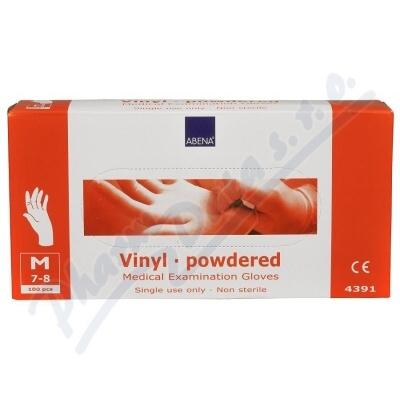 ABENA Rukavice vyšetřovací Vinyl M pudrované 100ks