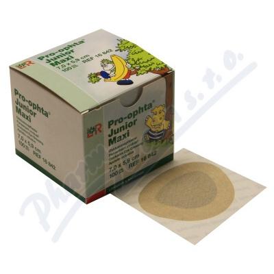 Okluzor nápl.Pro-ophta Junior Maxi 7.0x5.9cm-100ks
