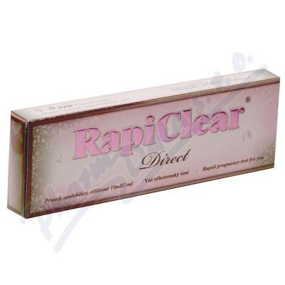 Zobrazit detail - Těhotenský test RapiClear direct Super Sens. 1ks