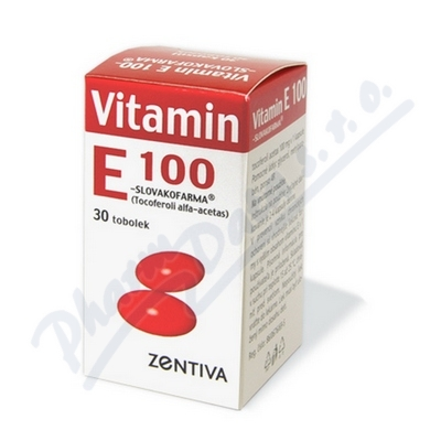 Zobrazit detail - Vitamin E 100 Zentiva por. cps. mol. 30x100mg