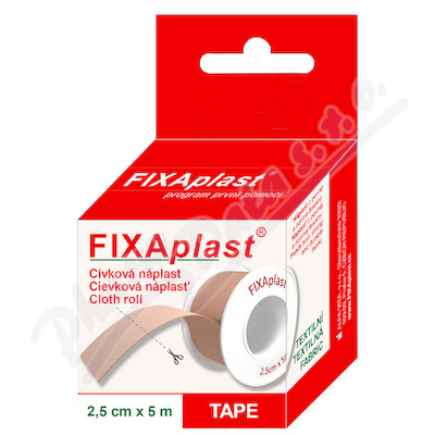 Zobrazit detail - Náplast Fixaplast cívka 2. 5cmx5m