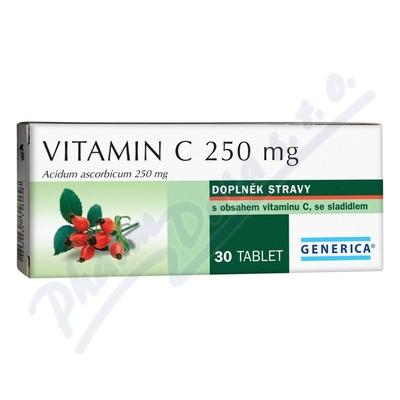 Zobrazit detail - Vitamin C 250mg Generica tbl.  30