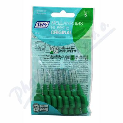 Zobrazit detail - TePe mezizub. kartáčky zelené 0. 8mm 8ks sáček
