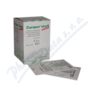 Náplast Curapor Transparent steril.7x5cm-50ks