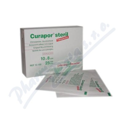 Náplast Curapor Transparent steril.10x8cm-25ks