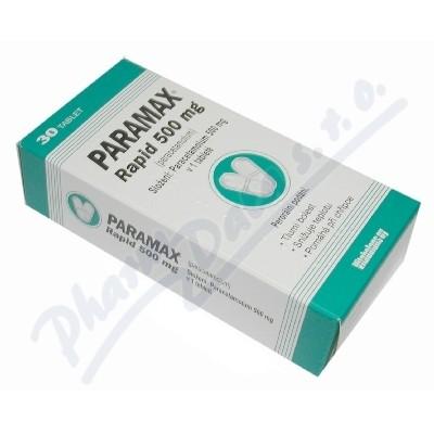 Zobrazit detail - Paramax Rapid 500mg por. tbl. nob. 30x500mg