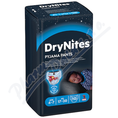 Zobrazit detail - HUGGIES DryNites kalh. abs.  M 4-7-boys-17-30kg-10ks