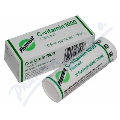 Zobrazit detail - C-vitamin 1000 Pharmavit por. tbl. eff. 10x1000mg