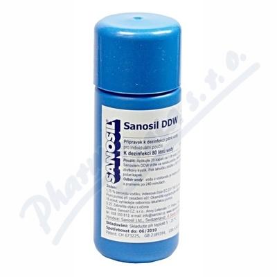Zobrazit detail - Sanosil DDW dezinfekce pit. vody 80ml-80l vody