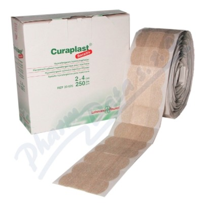 N�plast poinjek�n� Curaplast sensitiv 2x4cm 250ks