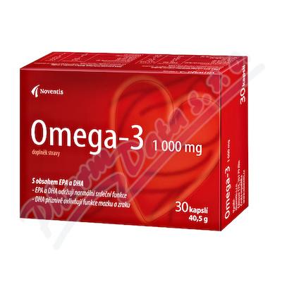 Omega-3 1000mg cps.30 pro zdravé srdce a cévy