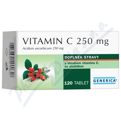 Zobrazit detail - Vitamin C 250mg Generica tbl. 120