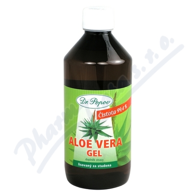 Zobrazit detail - Aloe Vera gel 500ml potravinový doplněk Dr. Popov