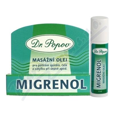 Zobrazit detail - Migrenol Roll-on mas�n� olej 6ml Dr. Popov