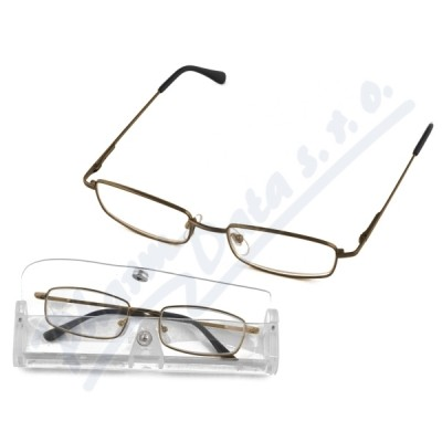 Brýle čtecí American Way +1.00 šedé-hnědé v etui