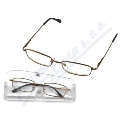 Brýle čtecí American Way +2.50 šedé-hnědé v etui