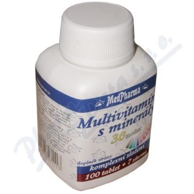 Zobrazit detail - MedPharma Multivitamín s minerály 30složek tbl. 107
