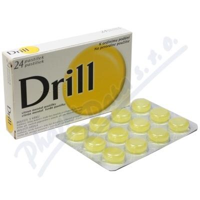 Zobrazit detail - Drill Citron Mentol Pastilky orm. pas. 24