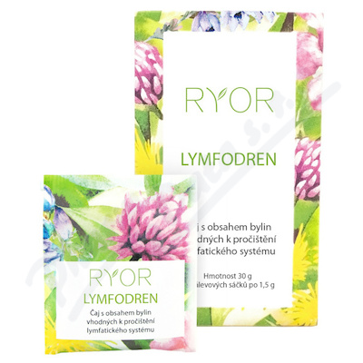 Zobrazit detail - RYOR Lymfodren bylinný čaj 20x1. 5g