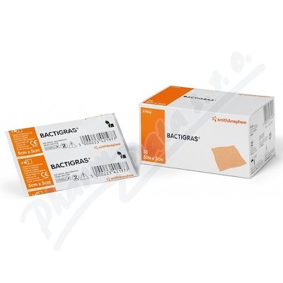 Kryt� Bactigras s Chlorhexid.acetate 5cmx5cm-50ks
