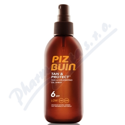 Zobrazit detail - PIZ BUIN SPF6 Tan+Protect Oil Spray 150ml