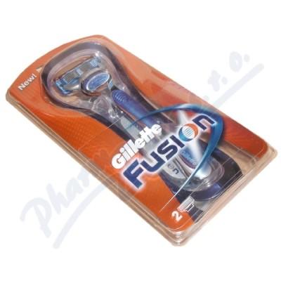 Gillette FUSION holic� strojek s 2 n�hr. b�ity