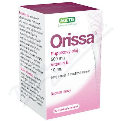 Zobrazit detail - Orissa Pupalkový olej s vitaminem E cps. 90