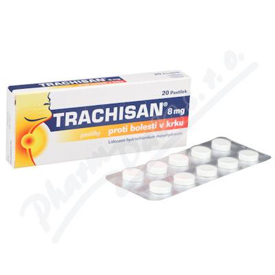 Zobrazit detail - Trachisan 8mg proti bolesti v krku orm. pas. 20x8mg