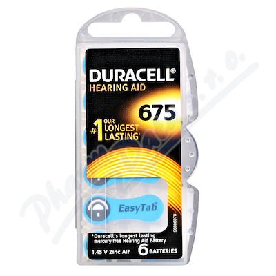Zobrazit detail - Baterie do naslouch. Duracell DA675 Easy Tab 6ks