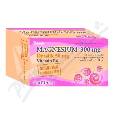 Zobrazit detail - Rosen Magnesium 300mg perliv� pastilky 20ks