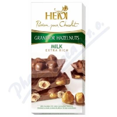Zobrazit detail - Čokoláda HEIDI GrandOr Milk&Hazelnuts 100g