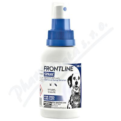 Zobrazit detail - FRONTLINE SPRAY 2. 5 mg-ml kožní sprej roztok 100ml