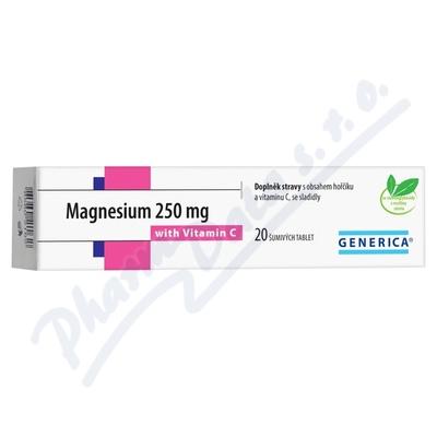 Zobrazit detail - Magnesium 250mg tbl. eff 20 s vitam. C Generica