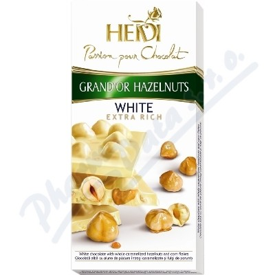 Zobrazit detail - Čokoláda HEIDI GrandOr White&Hazelnuts 100g