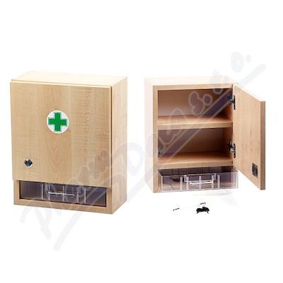 Zobrazit detail - Lékárnička - nástěnná dřevěná 40x32x17 -prázdná