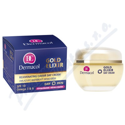 Zobrazit detail - Dermacol Gold Elixir omlaz. kaviár. denní krém 50ml